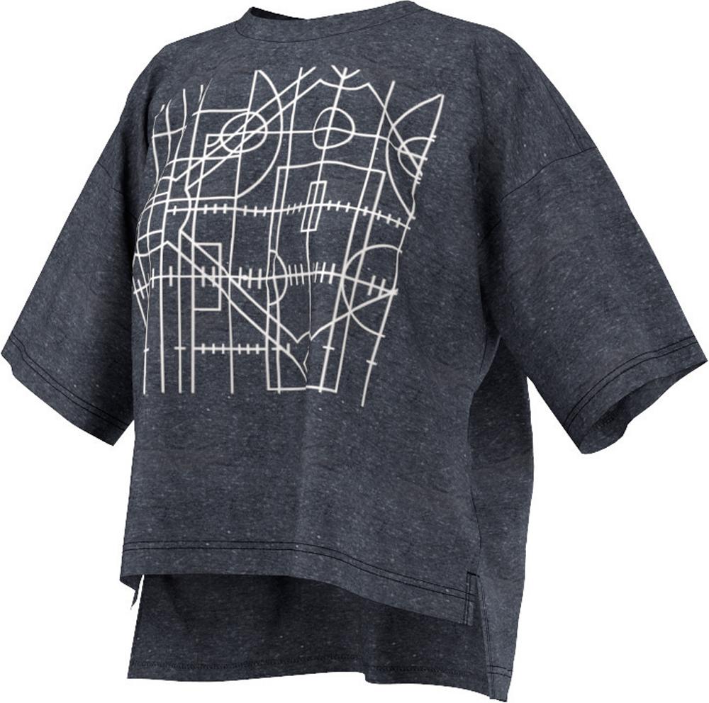 Damen Shirt Oversized Graphic Tee, CONAVY/WHITE, M
