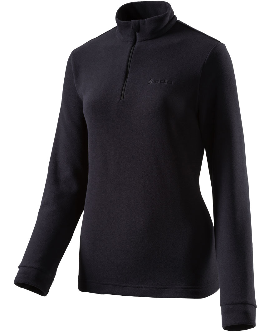 Damen Fleece-Shirt Stand-up collar 1/2 zip ELM