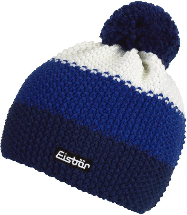Farbkombinationen Blau Grau: Eisbär Kinder Mütze First Pompon MÜ Blau/grau/weiß