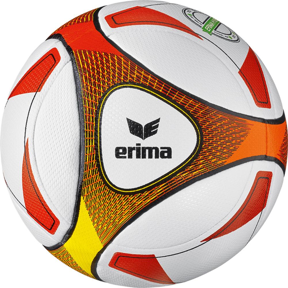 Hybrid Futsal JNR 350 Fußball Ball Rot, red/orange, 4