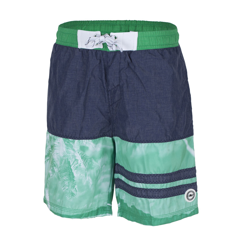 Jungen Badeshort BOY MEDIUM SHORTS, B.BLUE MEL-SMERALDO, 116