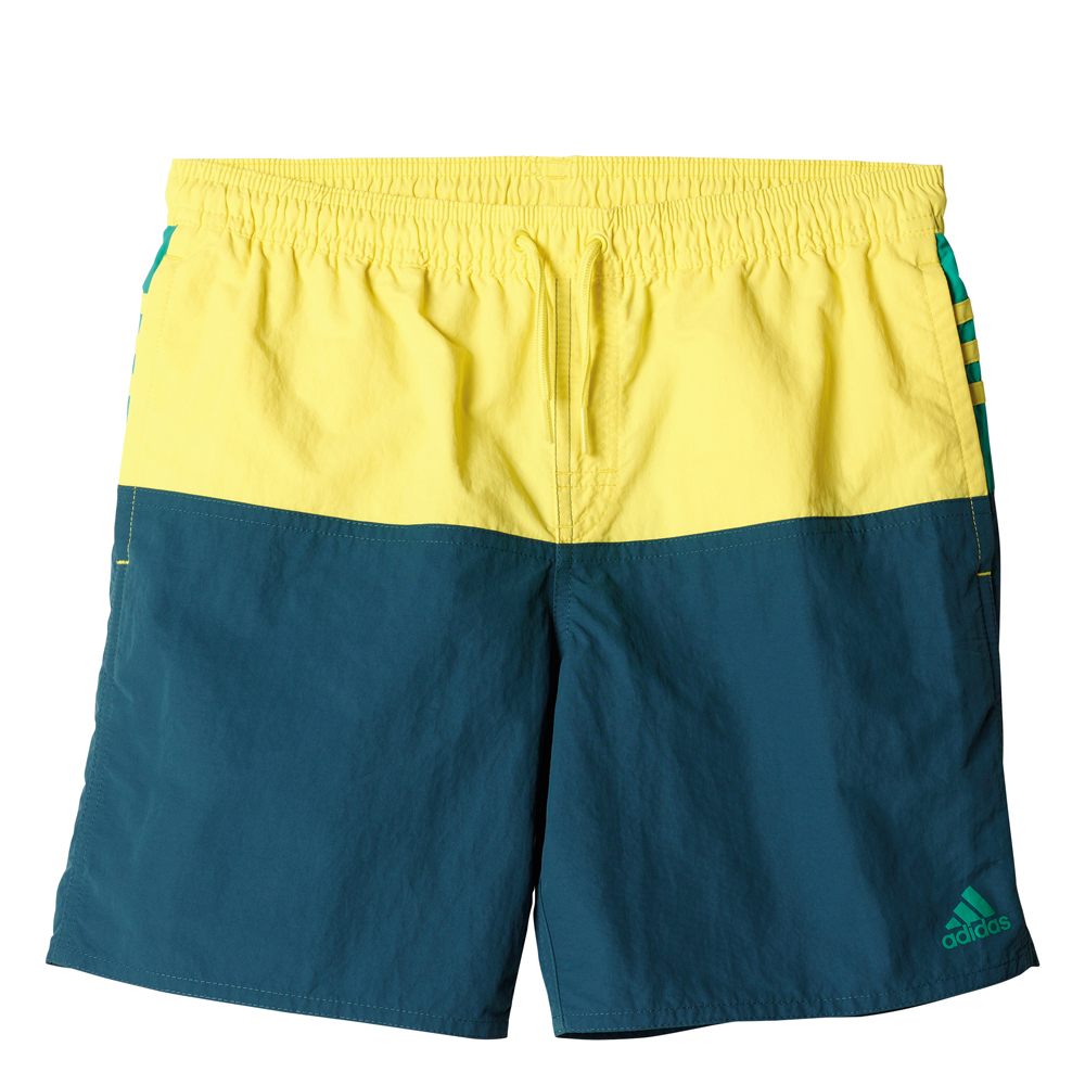 Herren Badehose youth 3 stripes colorblock short middle lengh