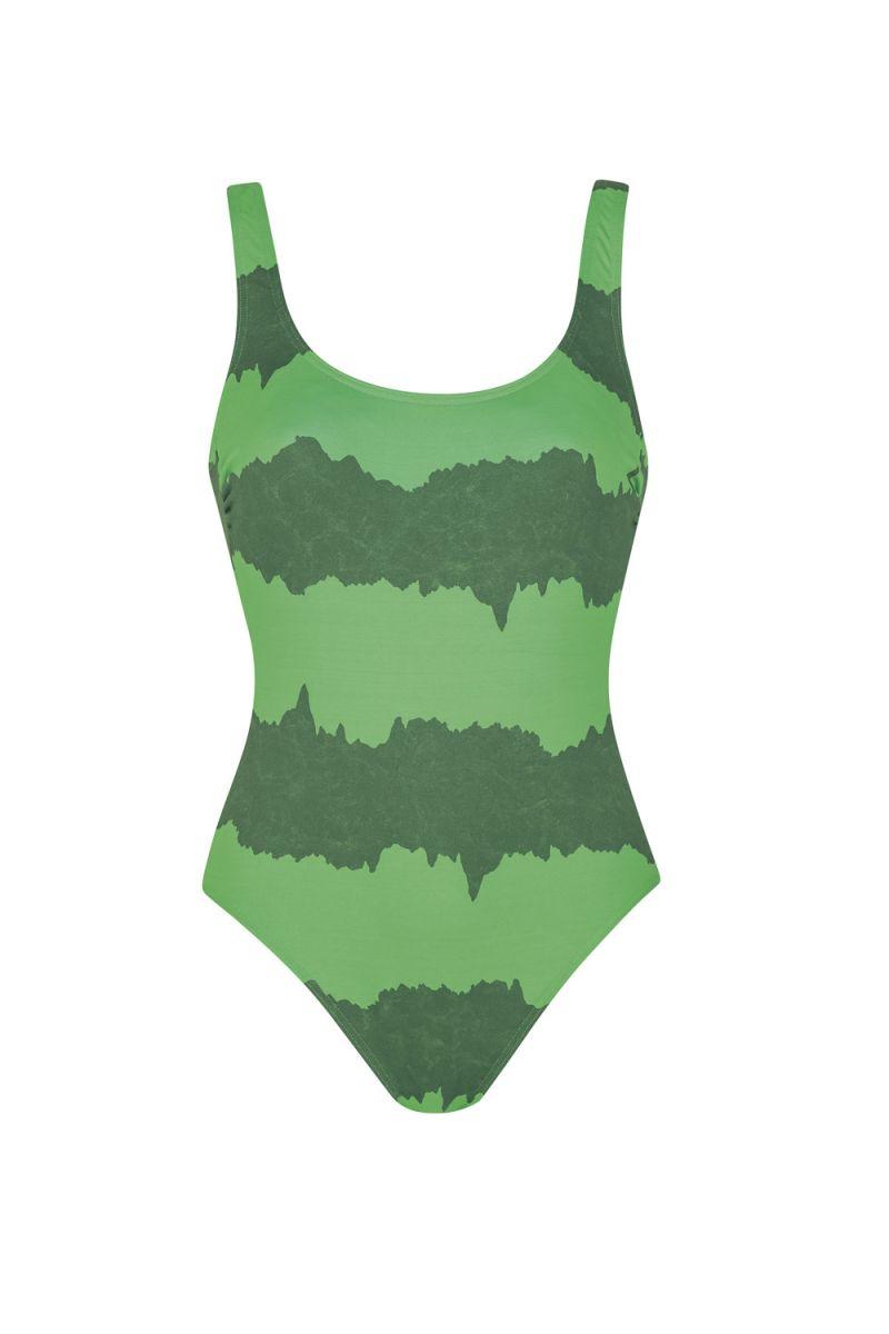 Damen Badeanzug, grün, 36B