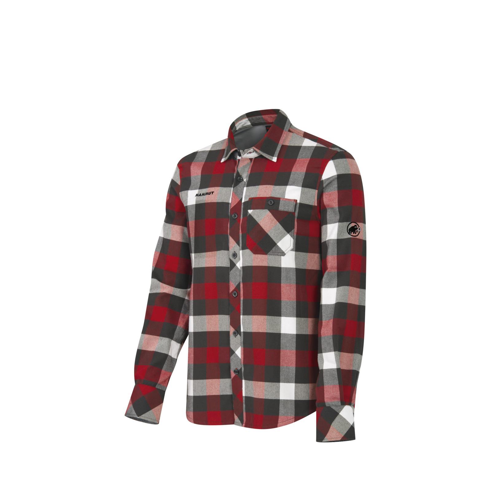 Herren Hemd Belluno Winter Shirt, dark inferno-graphite, L