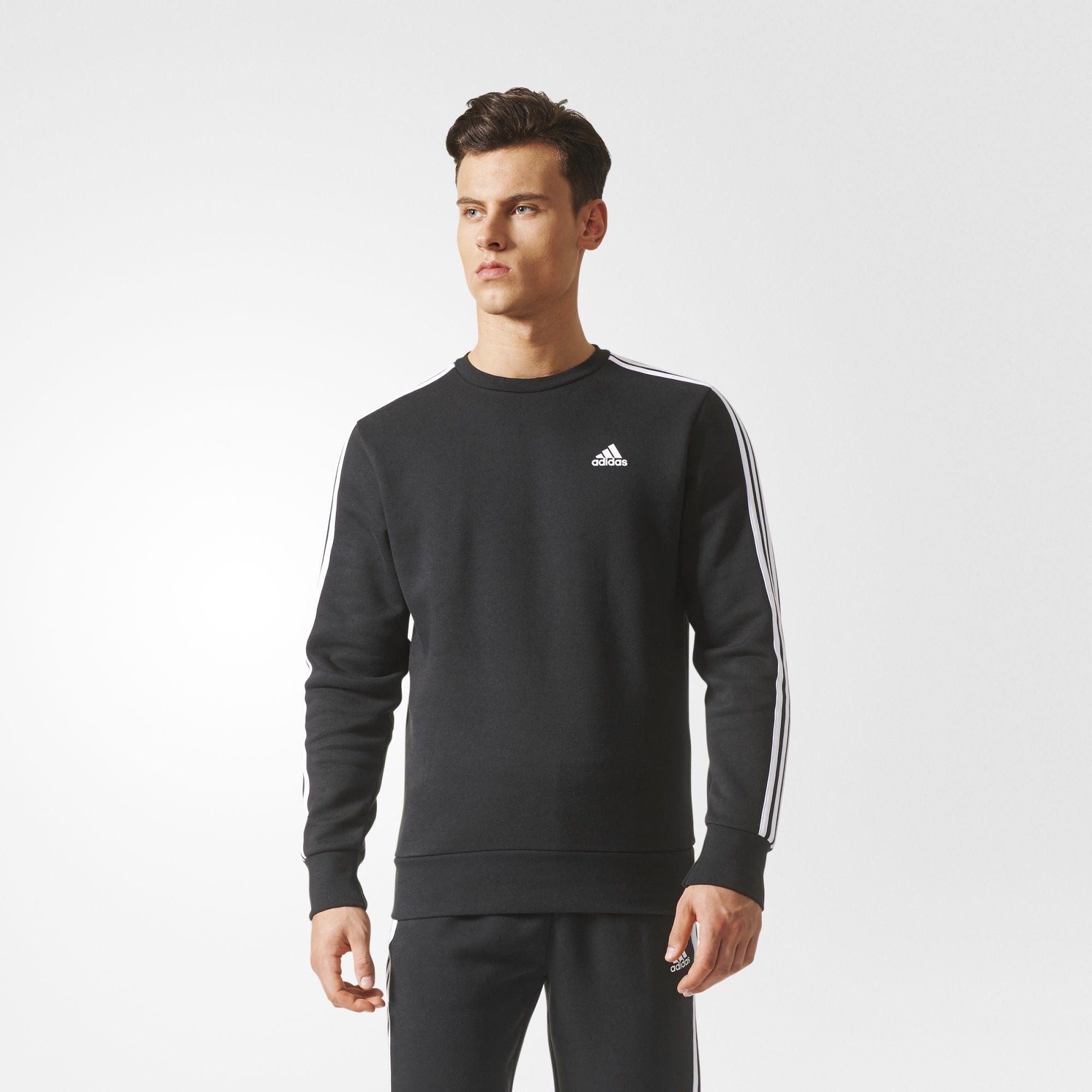 Herren Essentials 3-Streifen Sweatshirt