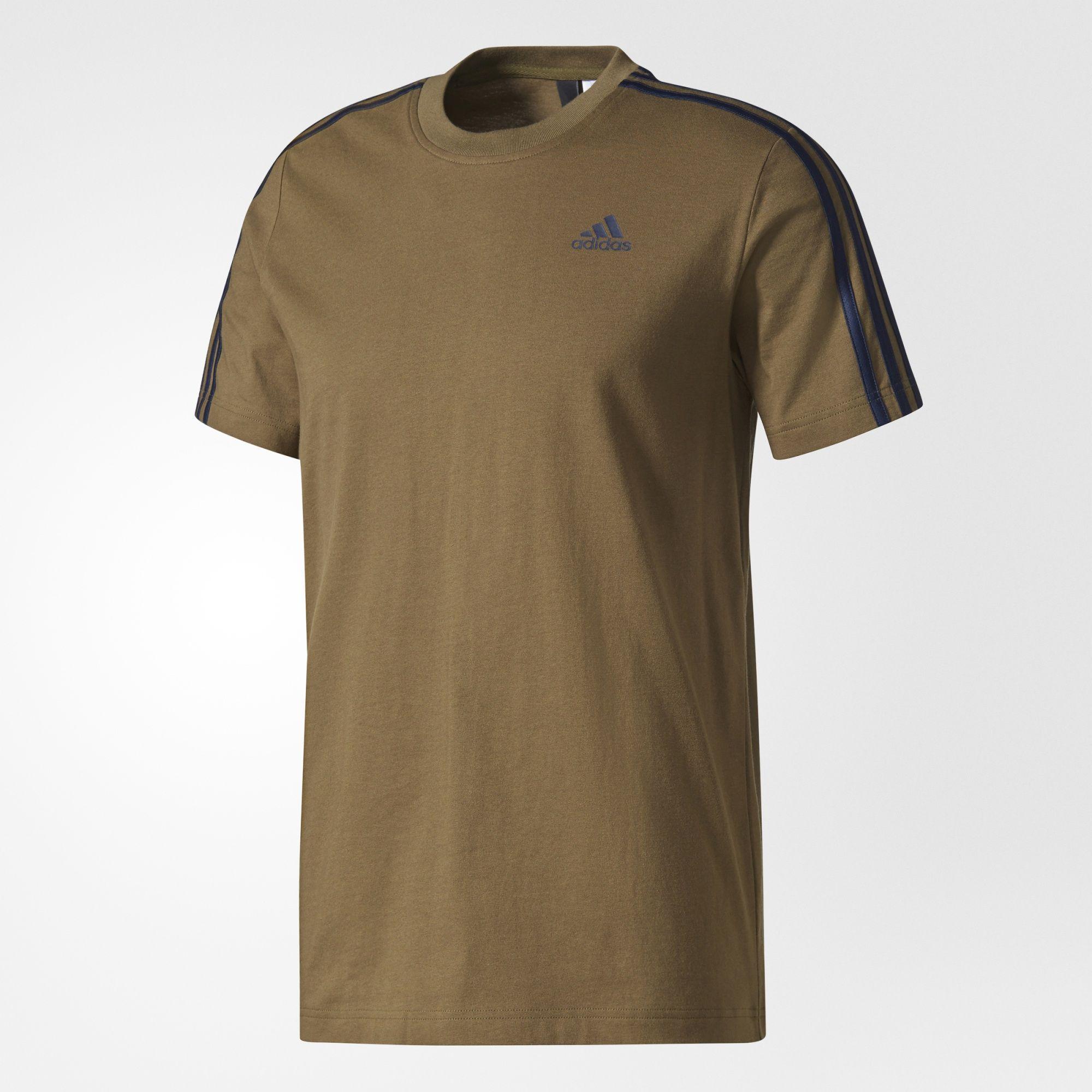Herren Essentials 3-Streifen T-Shirt