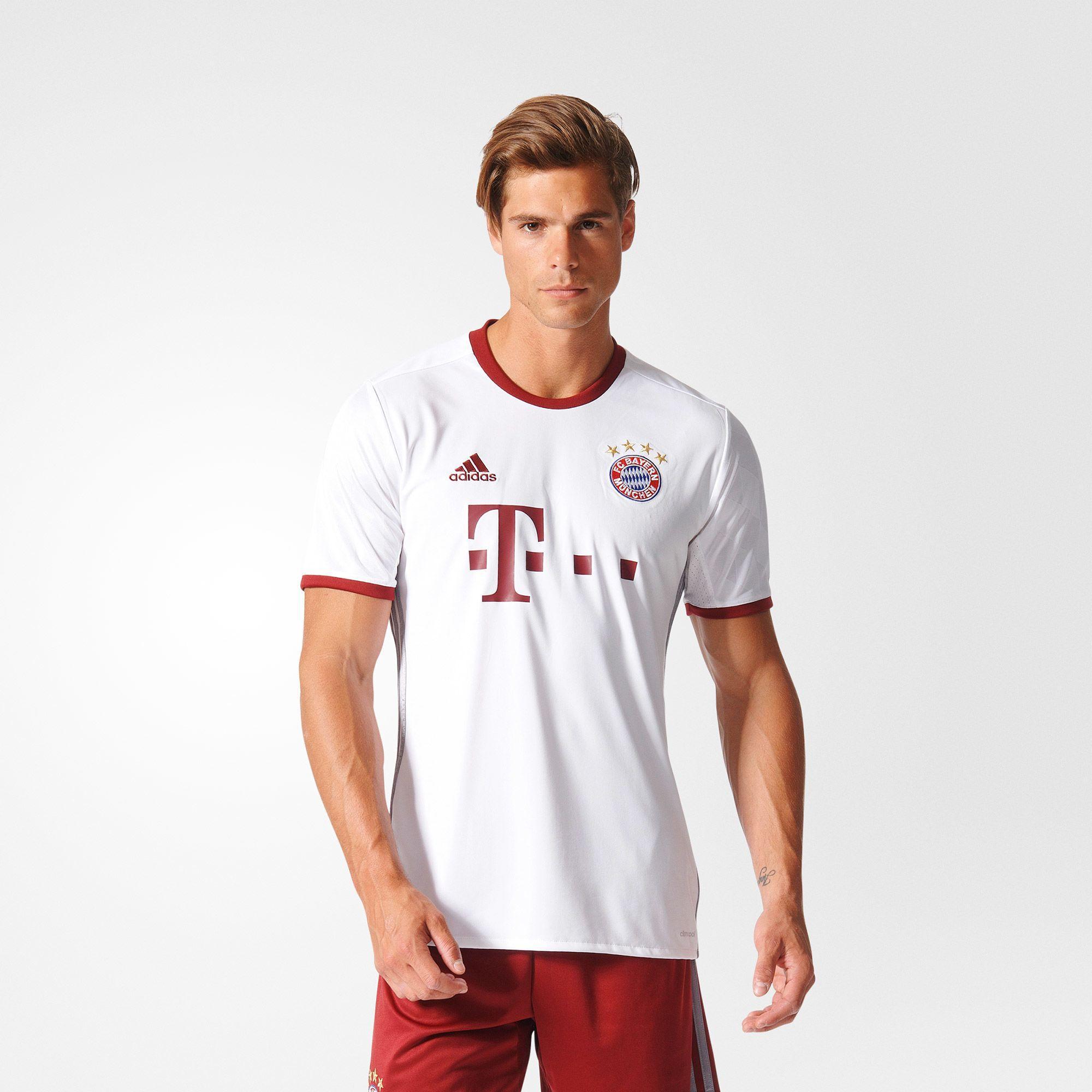 Herren FC Bayern München UCL Trikot Replica, WHITE/LTONIX/CBURGU, M
