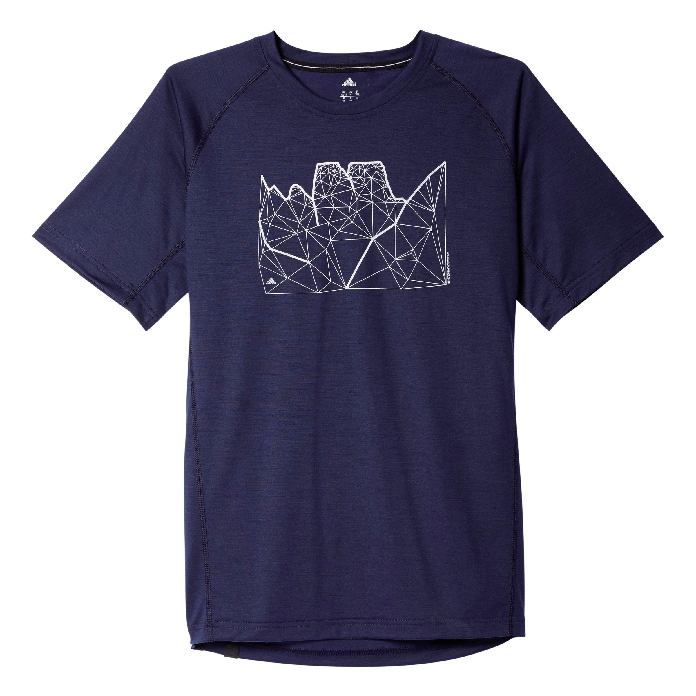 Herren T-Shirt Wool Tee, CONAVY, 52