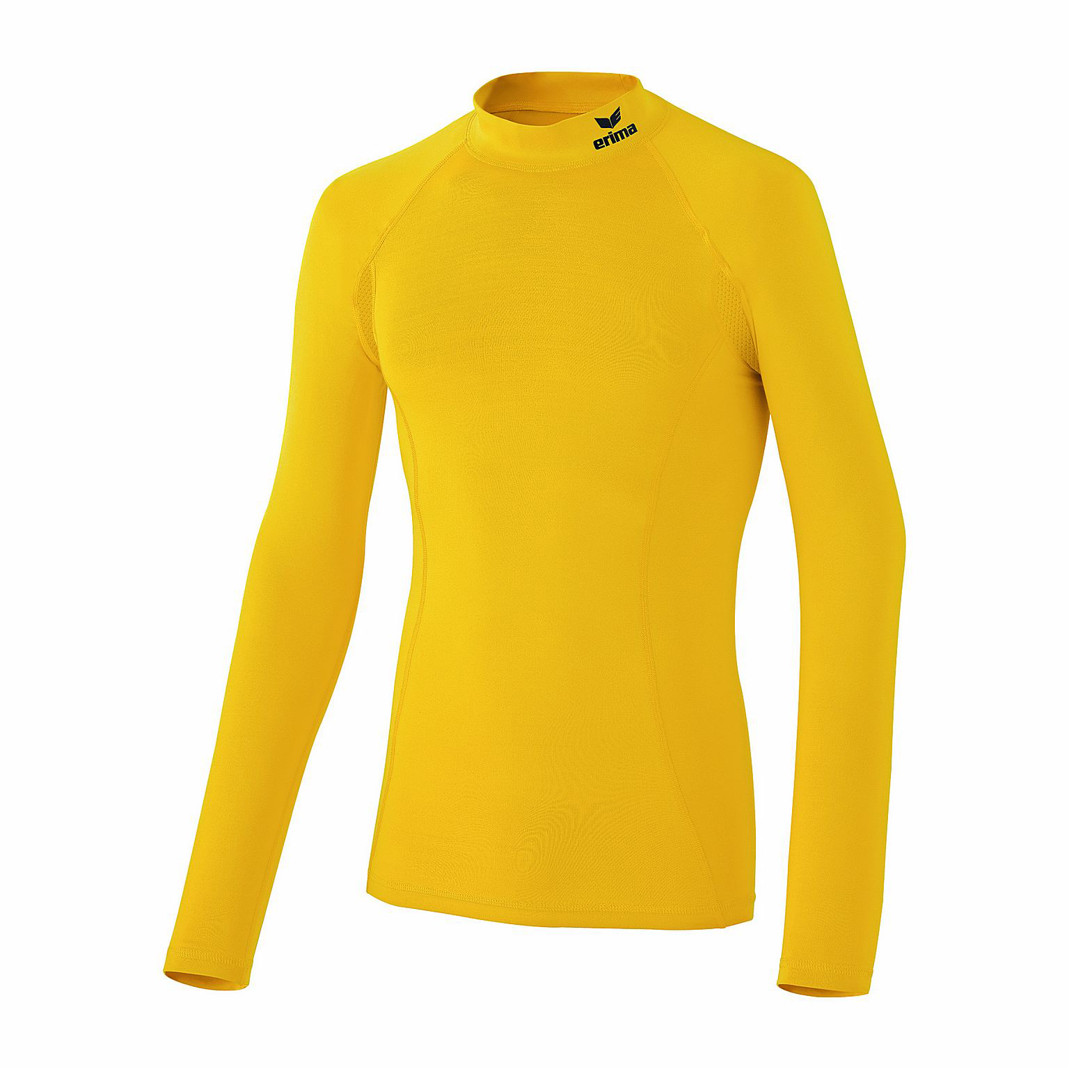 Herren Shirt Support Longsleeve, yellow, L