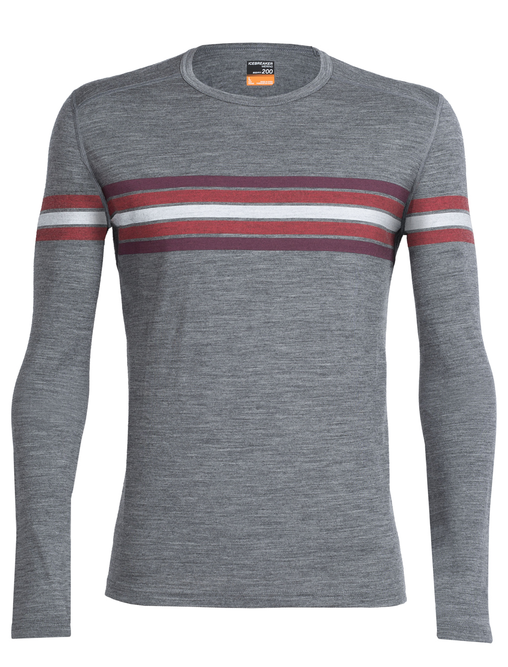 Herren Long Sleeve Oasis Crewe Coronet Stripe