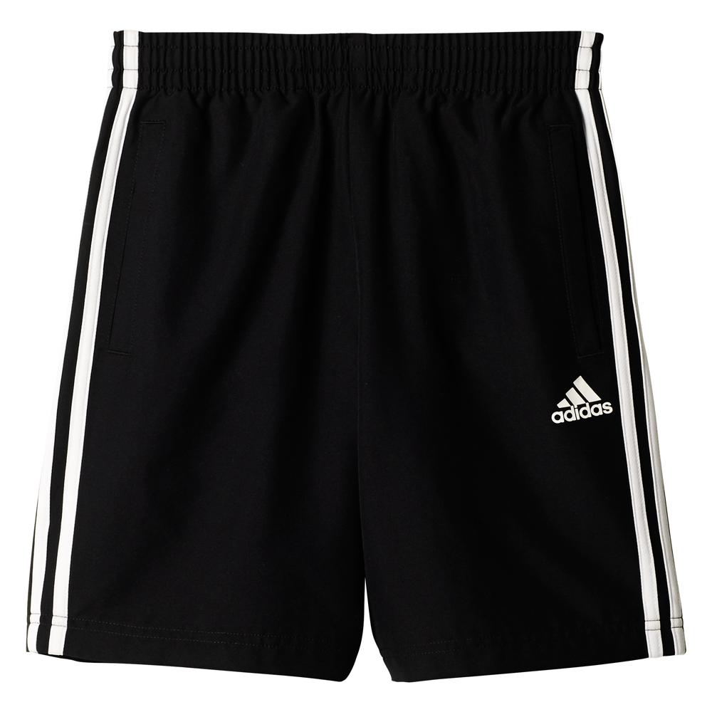 Kinder Sporthose Essentials 3 Stripes Woven Short, BLACK, 152