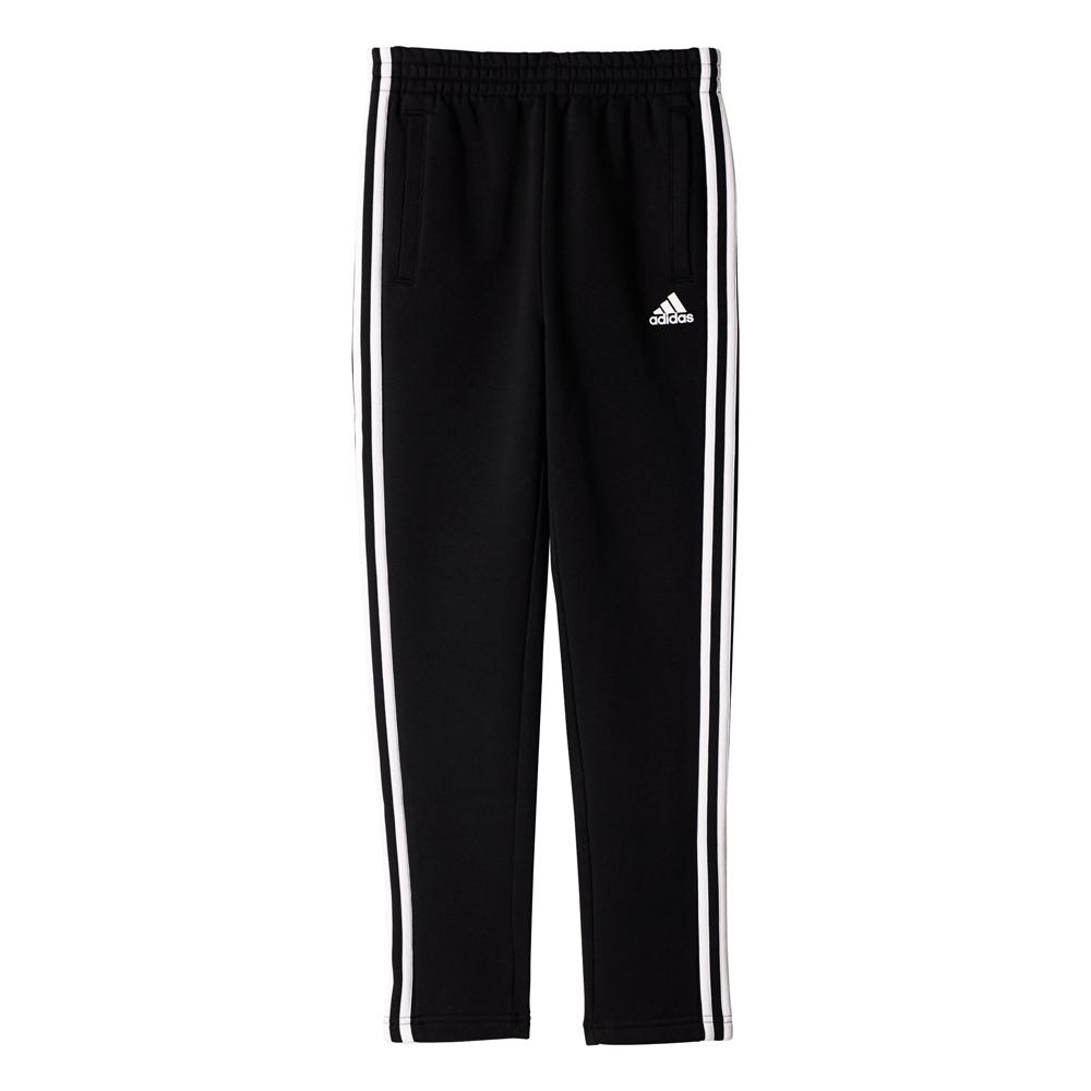 Kinder Sporthose Essentials 3 Stripes Fleece Pant, BLACK, 176
