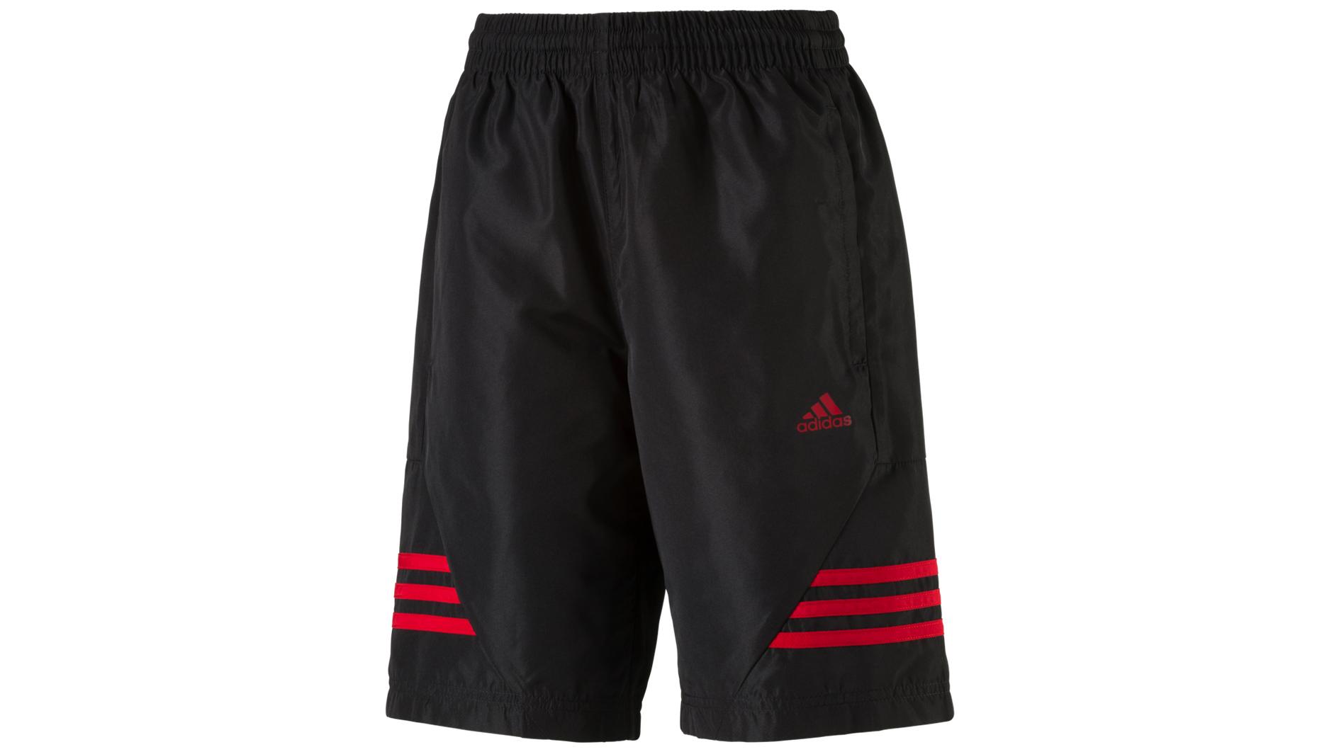 ADIDAS Jungen Shorts »Tasto«, BLACK/POWRED, 140