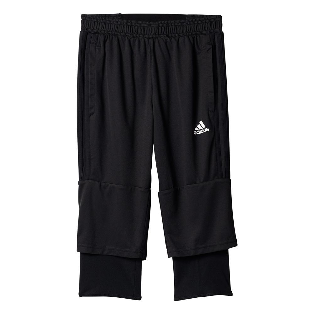 Kinder Sporthose Tiro17 3/4 Pant Youth, BLACK/WHITE, 176