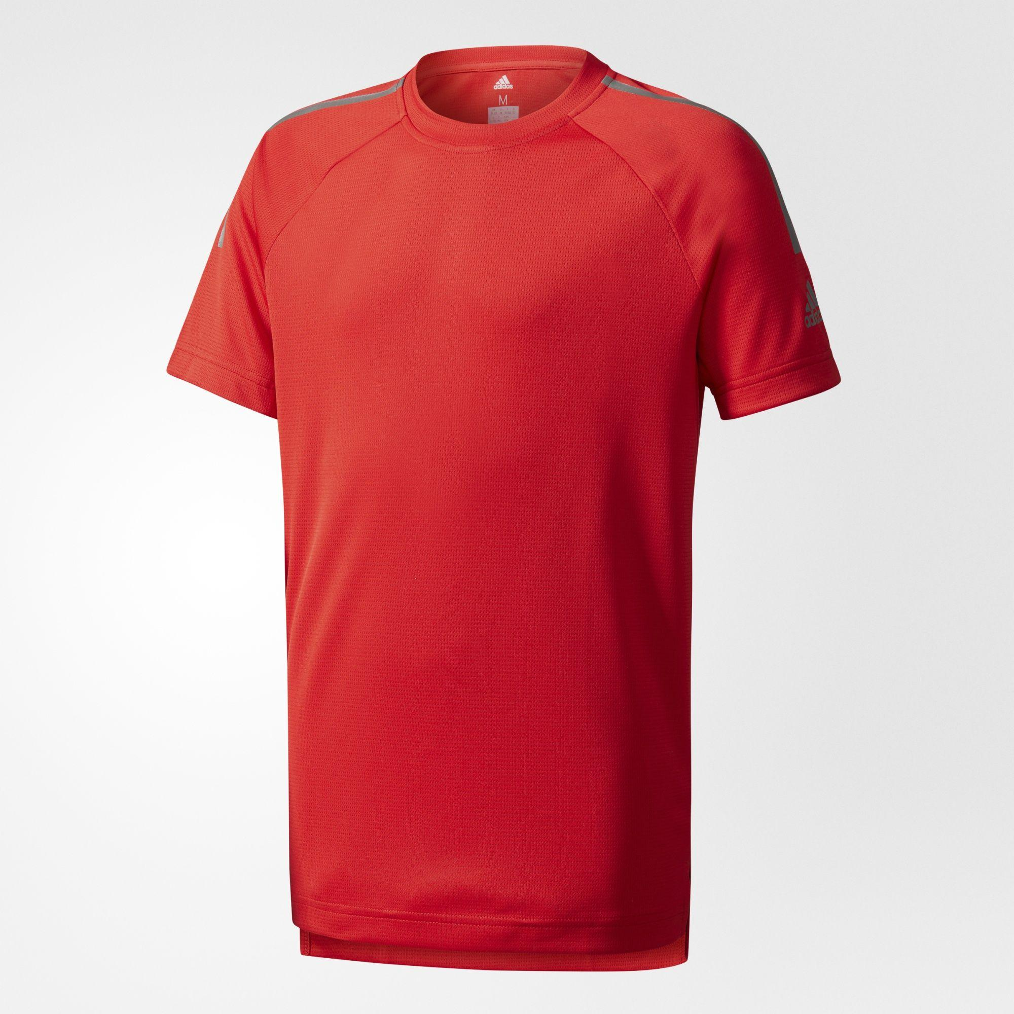 Kinder Training Cool T-Shirt, SCARLE/BLACK, 176