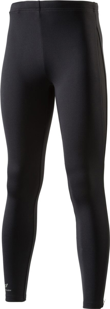 Kinder K-Tight lang brushed Basic Laufhose Schwarz