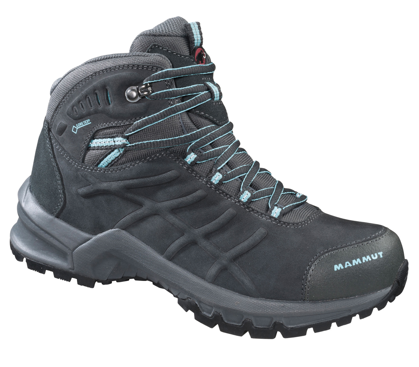 Damen Wanderschuh Nova Mid II GTX Women, graphite-light carribean, 5
