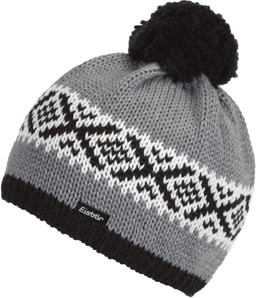 Damen Mütze Noma Pompon Strickmütze schwarz