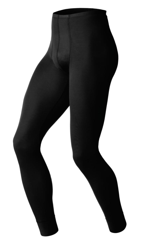 Herren Unterhose PANTS LONG WARM, black, M