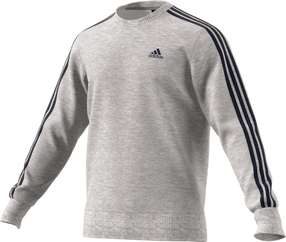 Herren Pullover Essentials 3-Stripes Crew Fleece