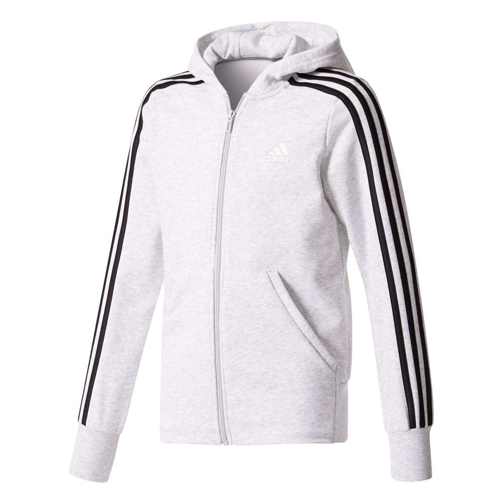 Kinder Pullover Essentials 3 Stripes Full Zip Hoodie