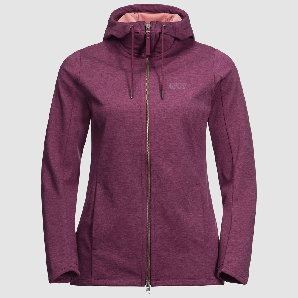 Riverland Hooded Jacket W Berry, wild berry, L