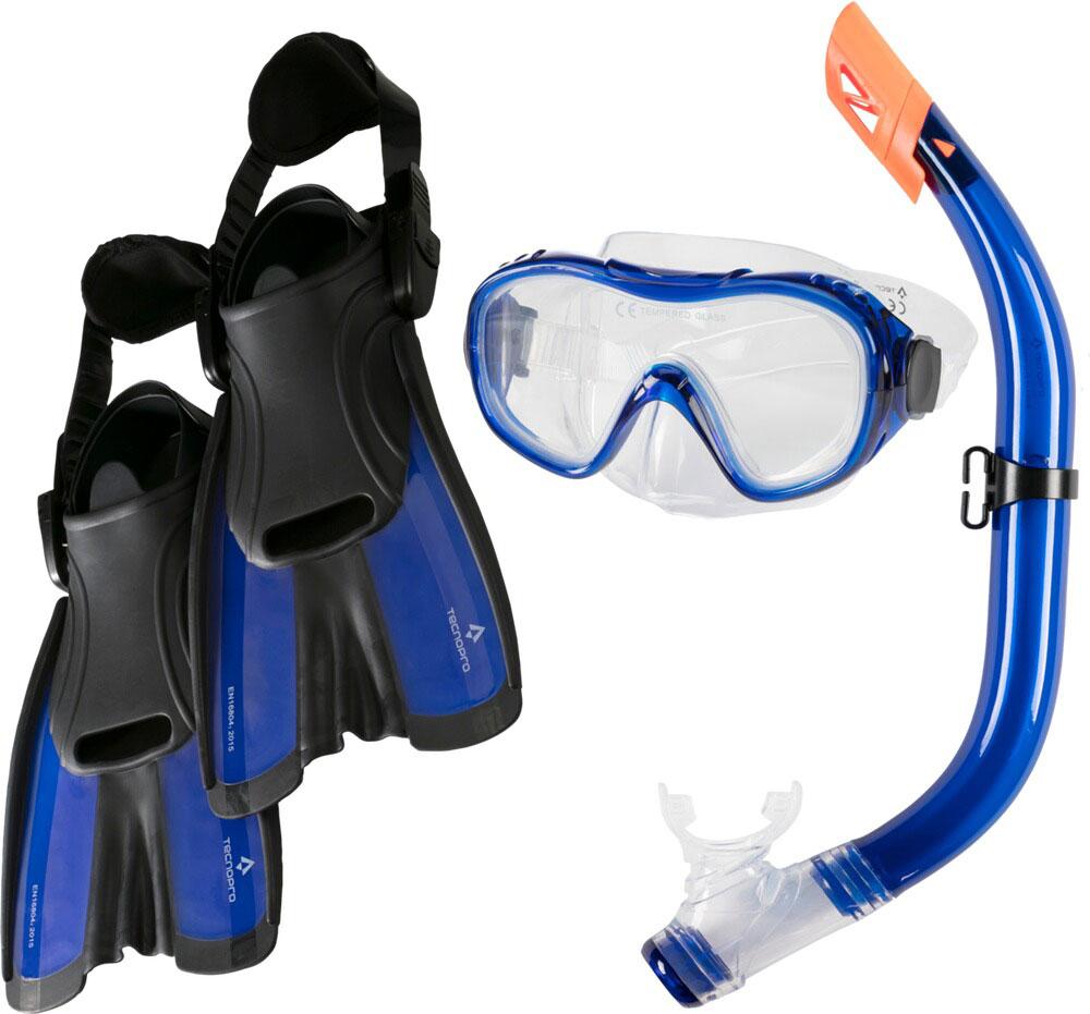 TECNOPRO Tauchset ST5 3 Blau inkl. Schwimmflossen