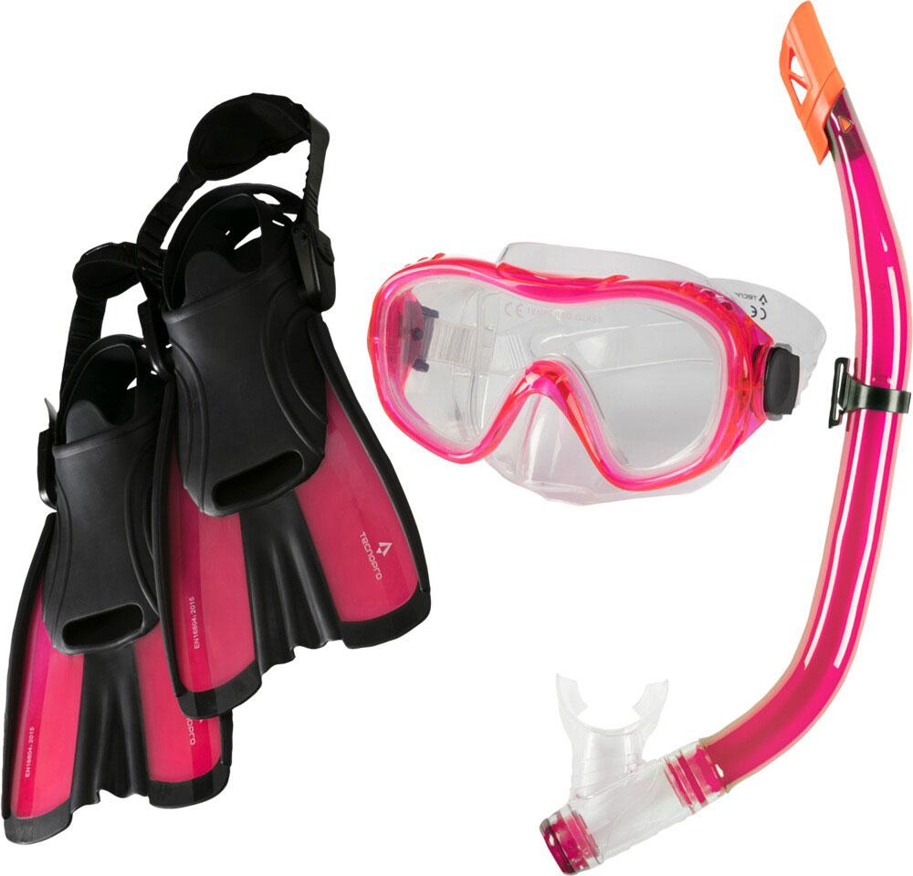 Tauchset ST5 3 Pink inkl. Schwimmflossen