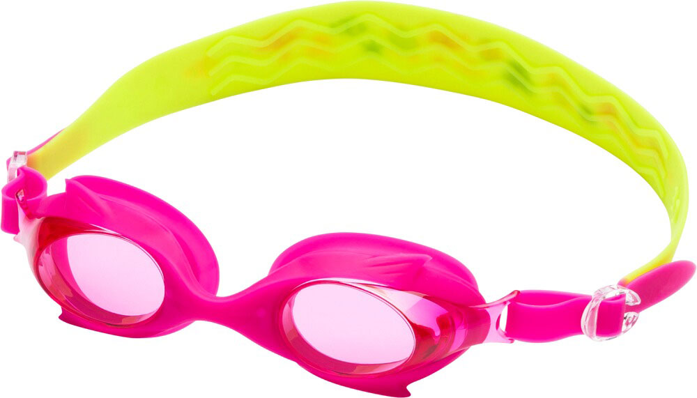 Kinder Schwimmbrille SHARK PRO KIDS X Pink Grün, PINK/GREEN LIME/MULT, -