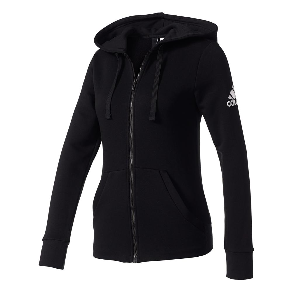 Damen Sportjacke Essentials Solid Fullzip Hoodie