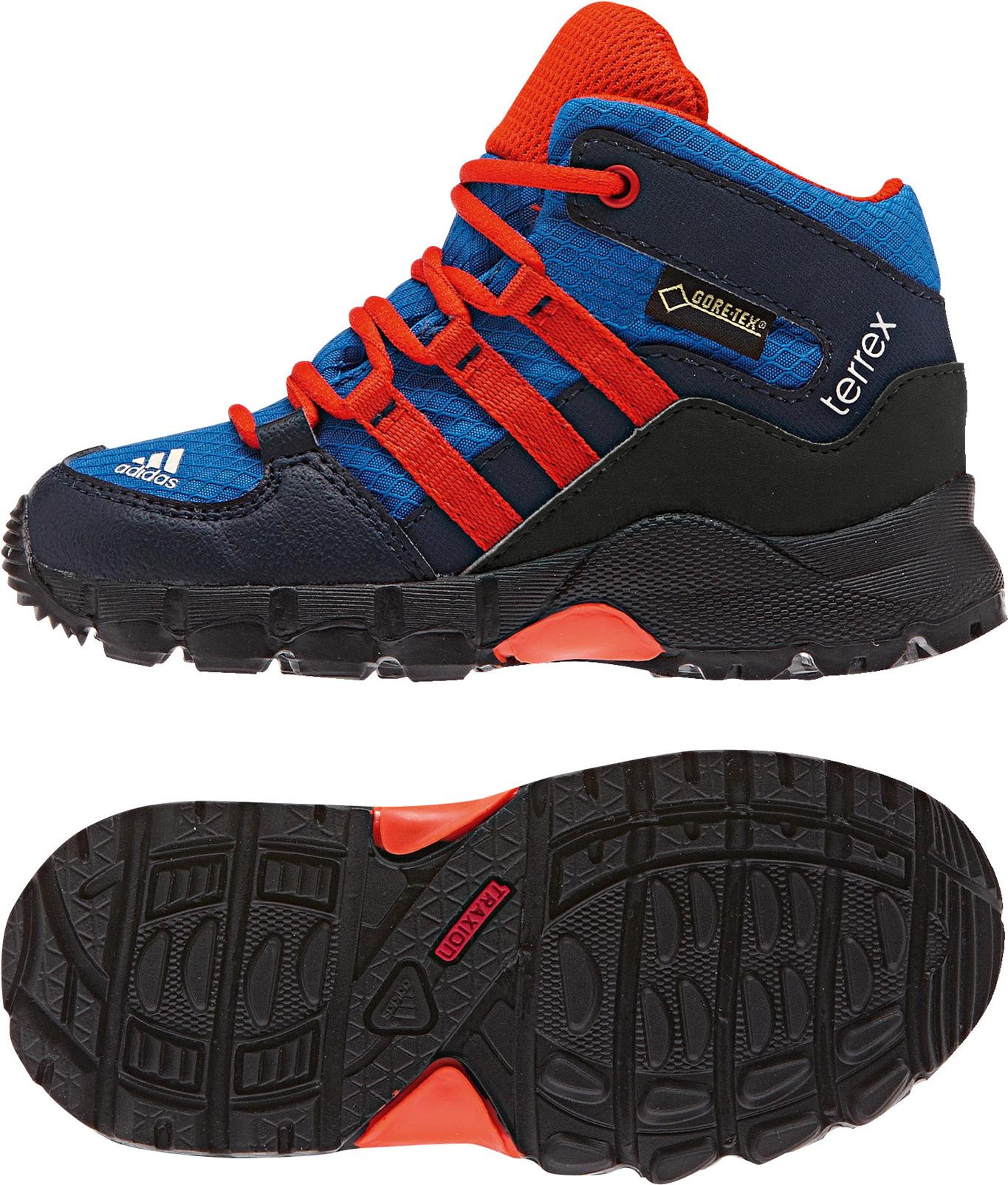 Kinder Schuhe Terrex Mid GTX I, BROYAL/CBLACK/BORANG, 20