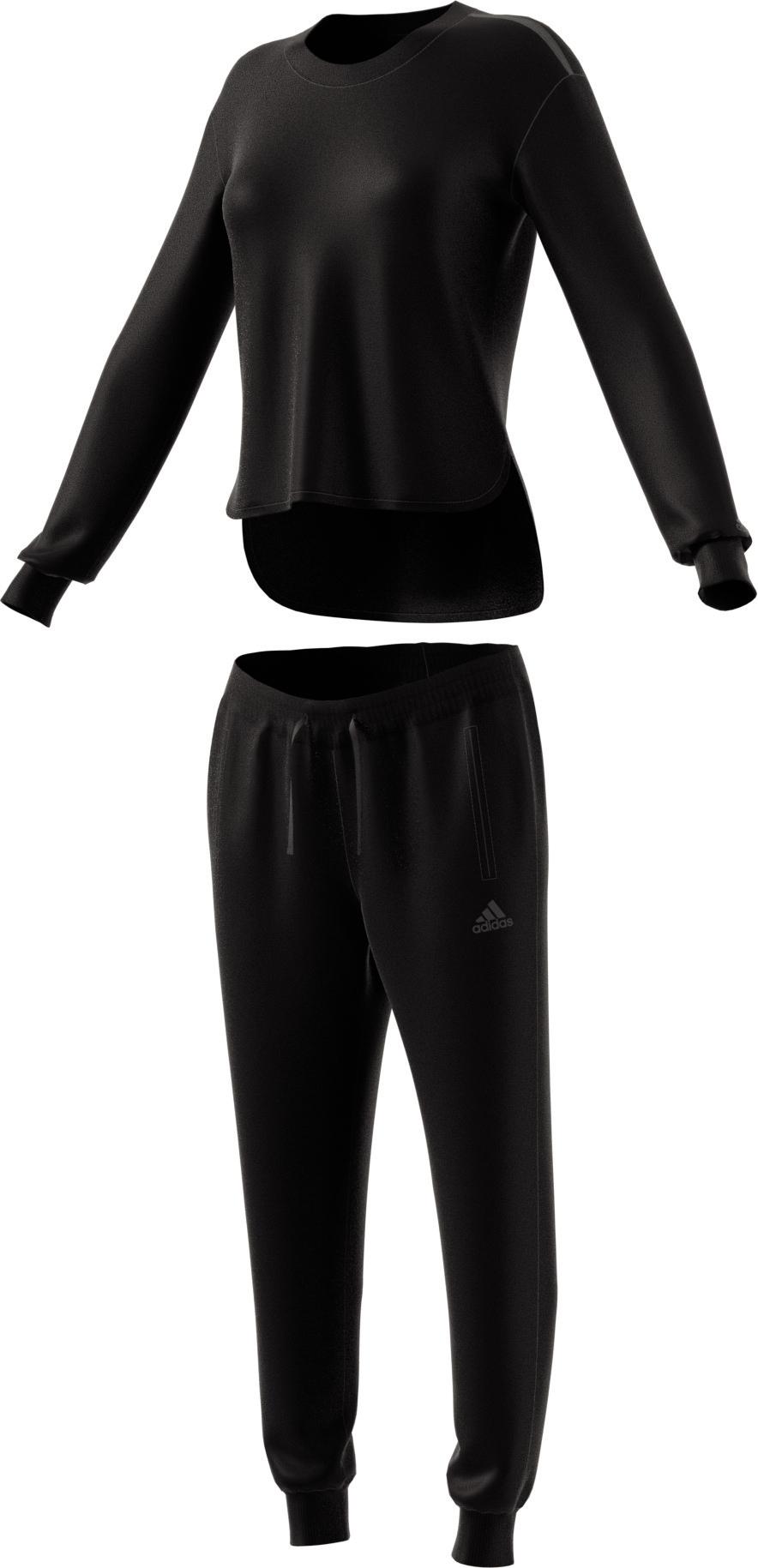 Damen Trainingsanzug CHILL OUT TRACKSUIT, BLACK, L