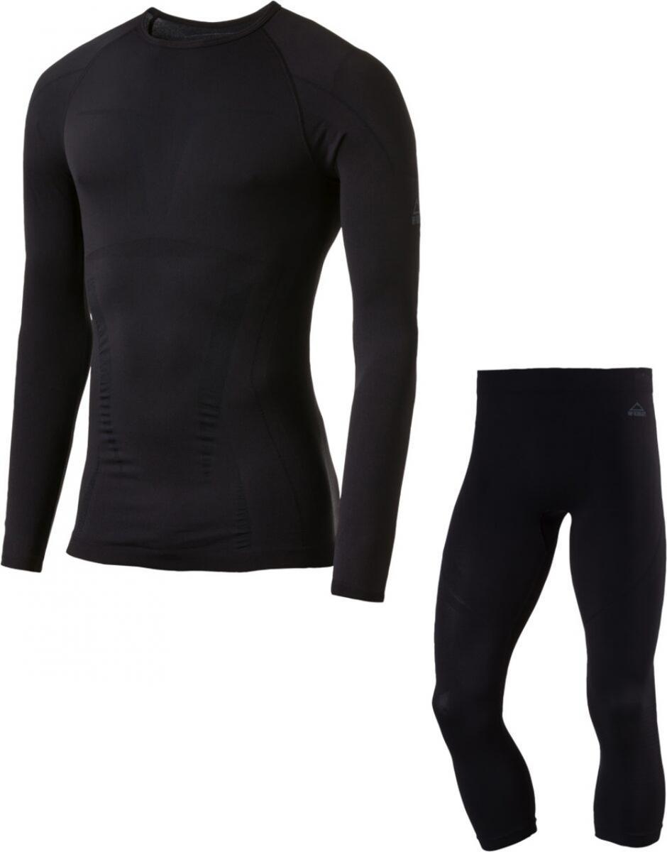 Herren Unterwäschenset Shirt Unterhose Schwarz