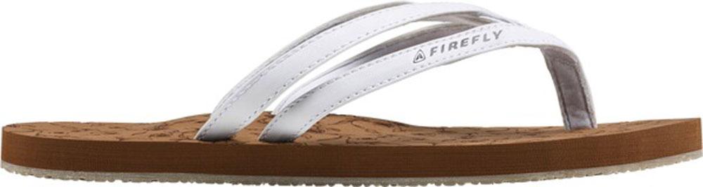 Damen Flip Flops Kira II weiß/braun, BROWN/ WHITE, 39