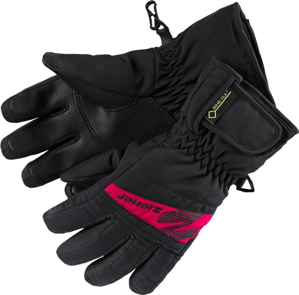 Kinder Skihandschuhe ISP 16 Jnr 1245 GTX black pink, BLACK/POP PINK, 5
